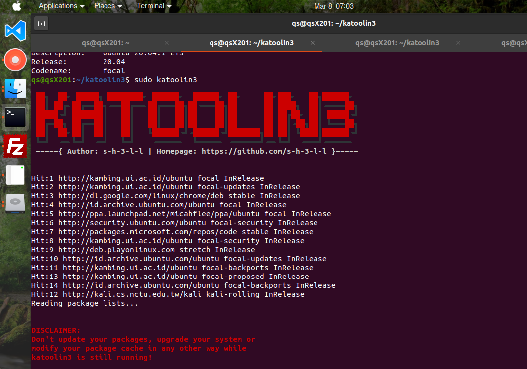Install Katoolin3 On Ubuntu 20.04